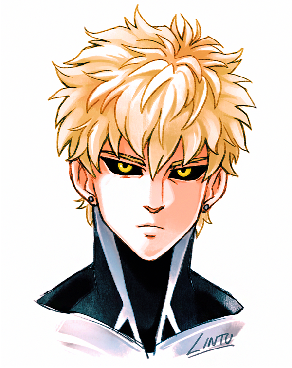 image library library Genos drawing hair. Lintu on twitter what.