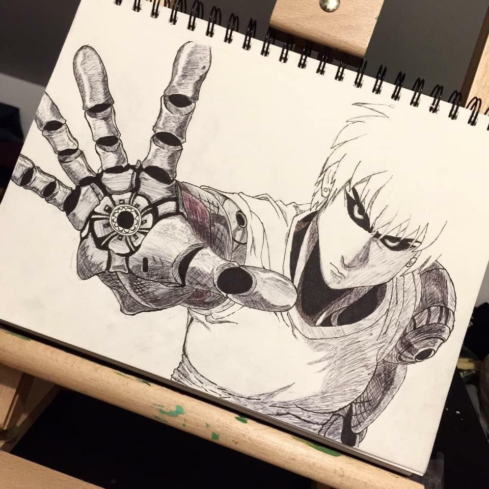 image freeuse library Draw of genos with one pen