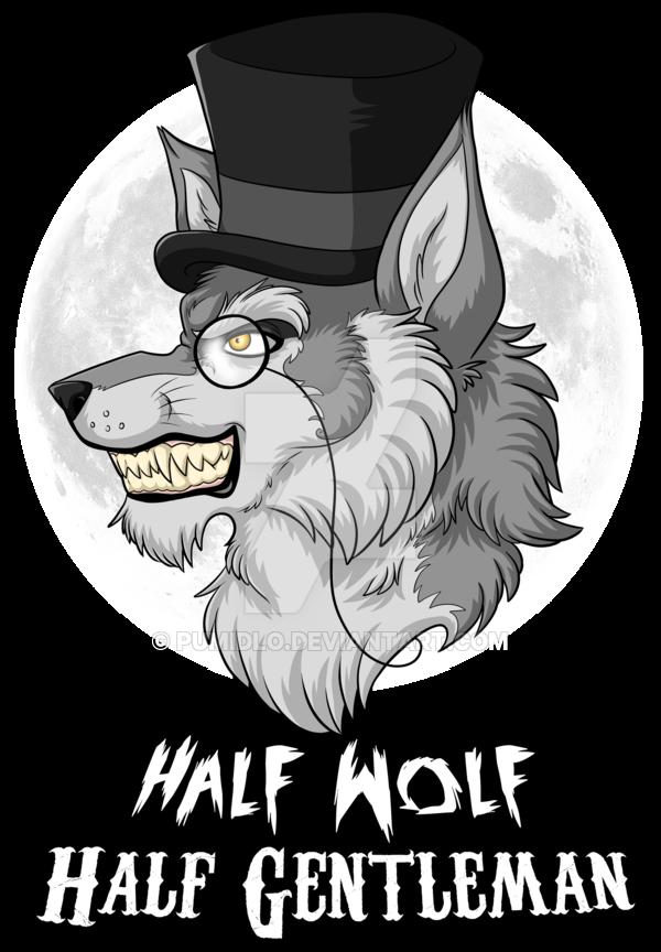 jpg black and white download Half Wolf Half Gentleman by Pumidlo on DeviantArt