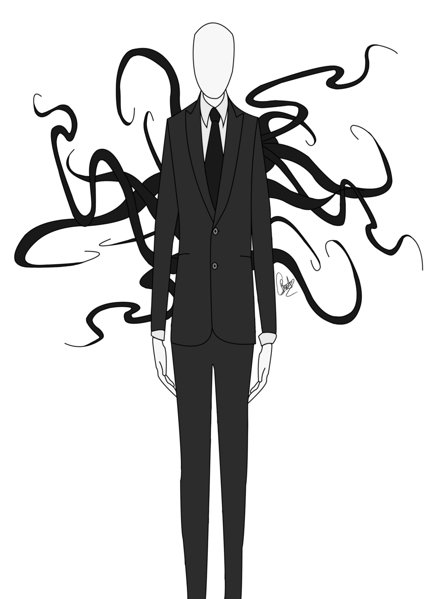 banner royalty free stock Slender Man Drawing at GetDrawings