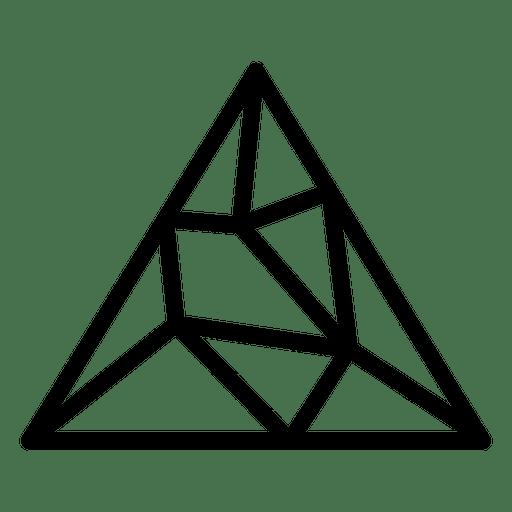 clip Triangle logo png svg. Geometric transparent