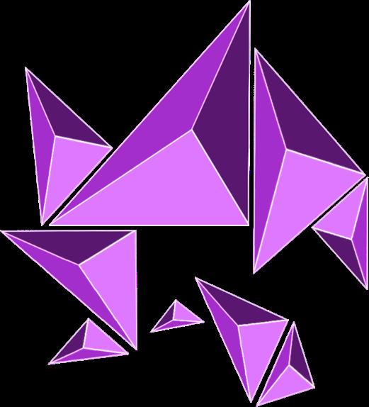 vector library geometry geometric triangles purple FreeToEdit