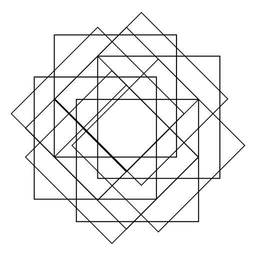 graphic black and white stock Sacred geometry with squares