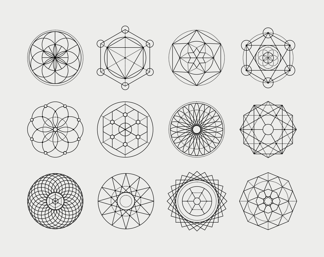 image library Sacred geometric shapes . Geometry vector.