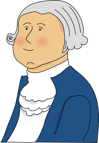 vector freeuse Clip art image. George washington clipart.