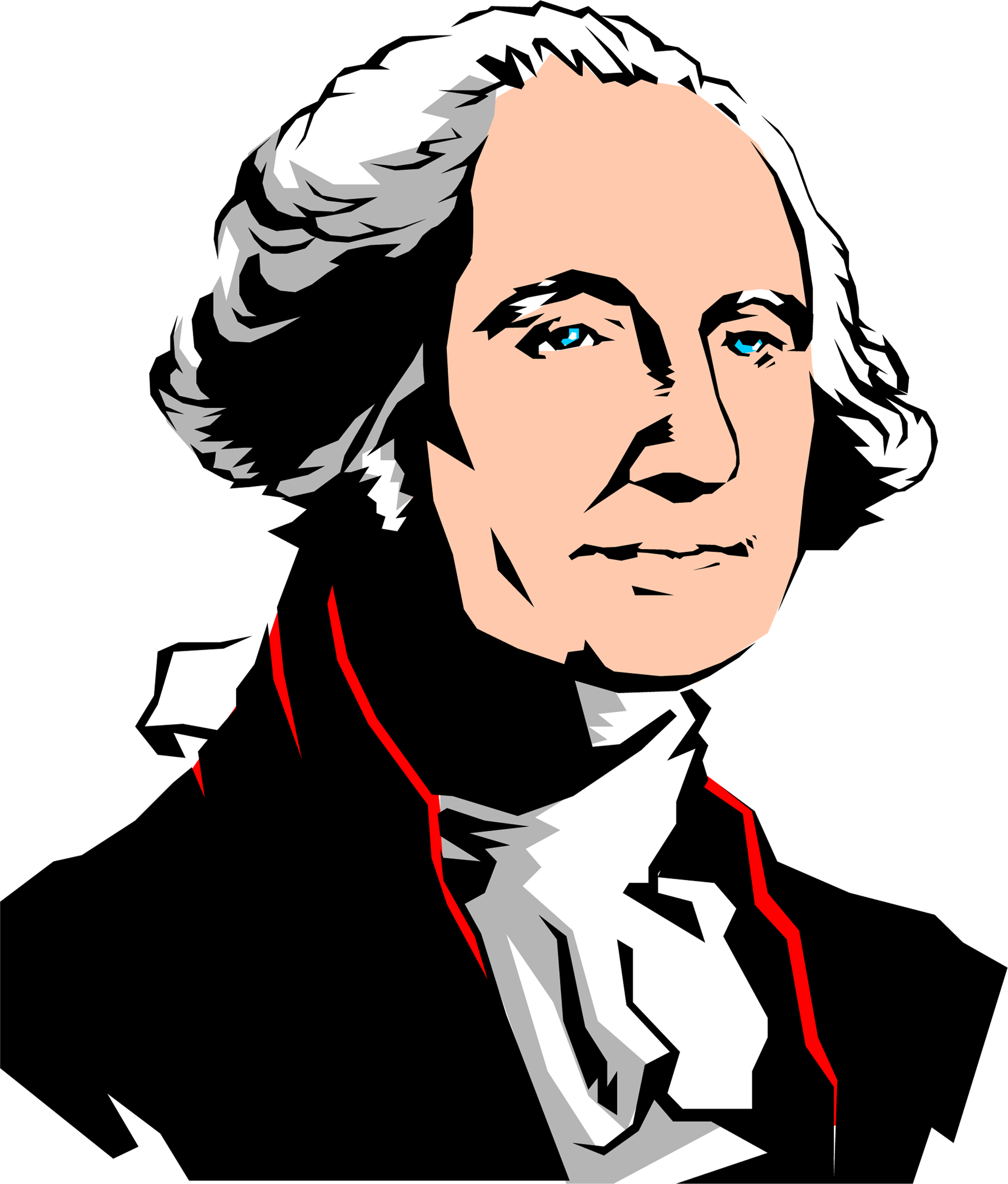 graphic free library Cartoon drawing at getdrawings. George washington clipart.