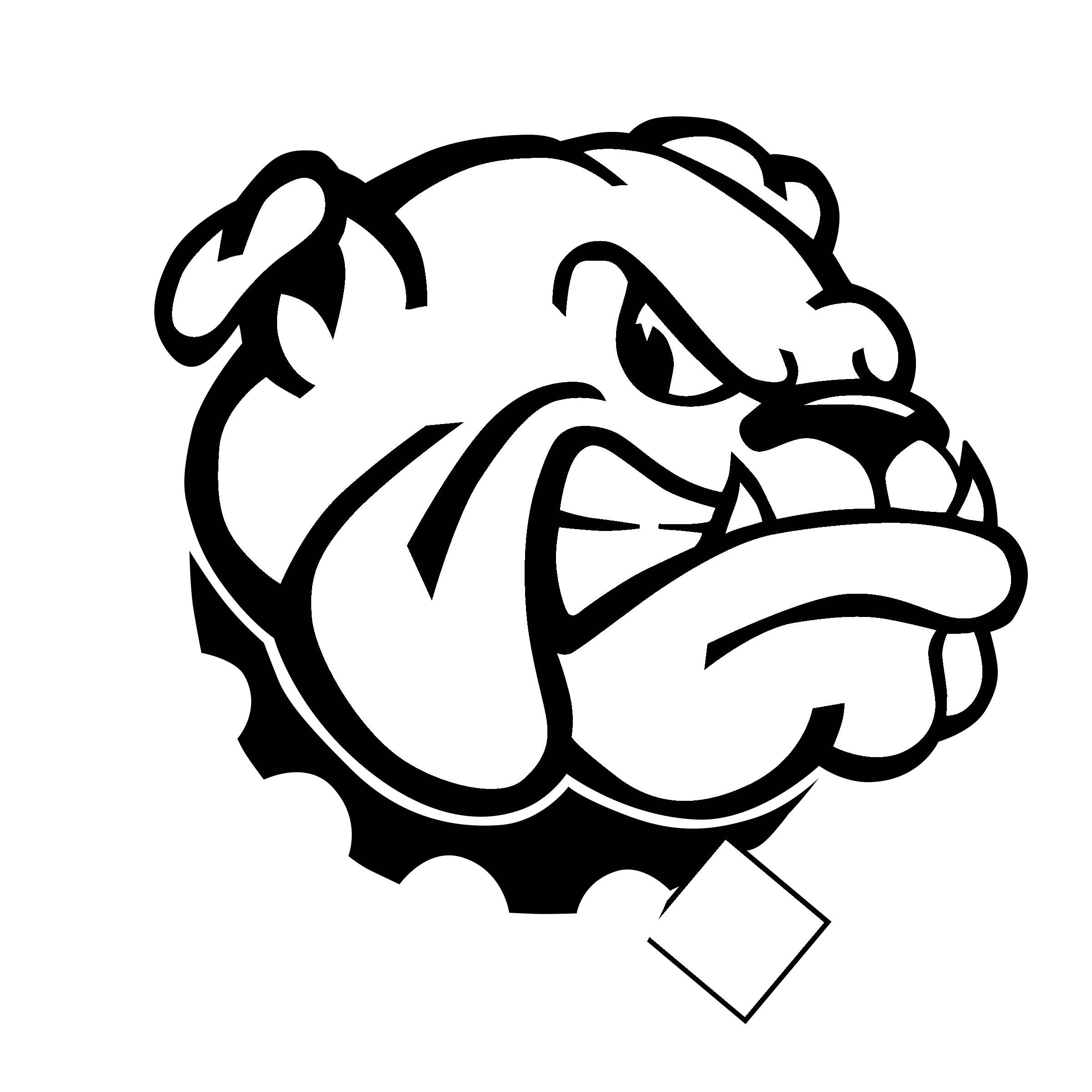 svg library stock Georgia bulldogs logo png. Vector bulldog black and white