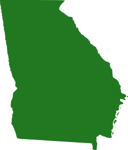 image black and white library State Of Georgia Map Clip Art at Clker