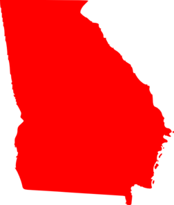 picture free Georgia clipart red. Clip art at clker.