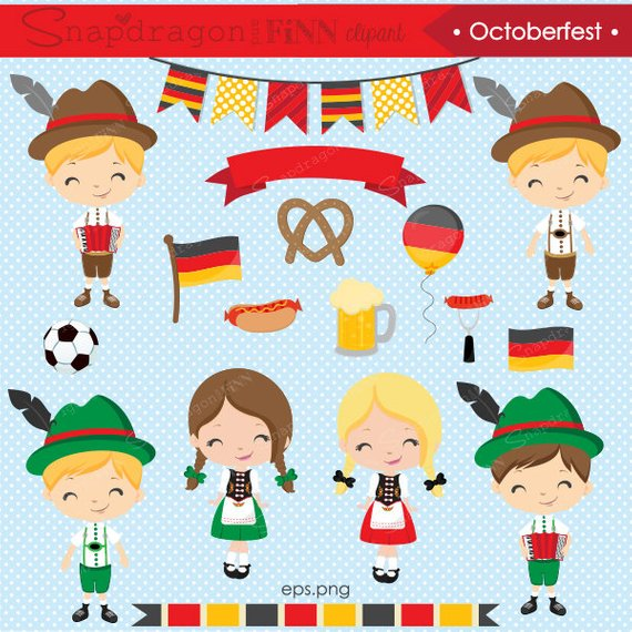 jpg library download German clipart. Octoberfest kids .