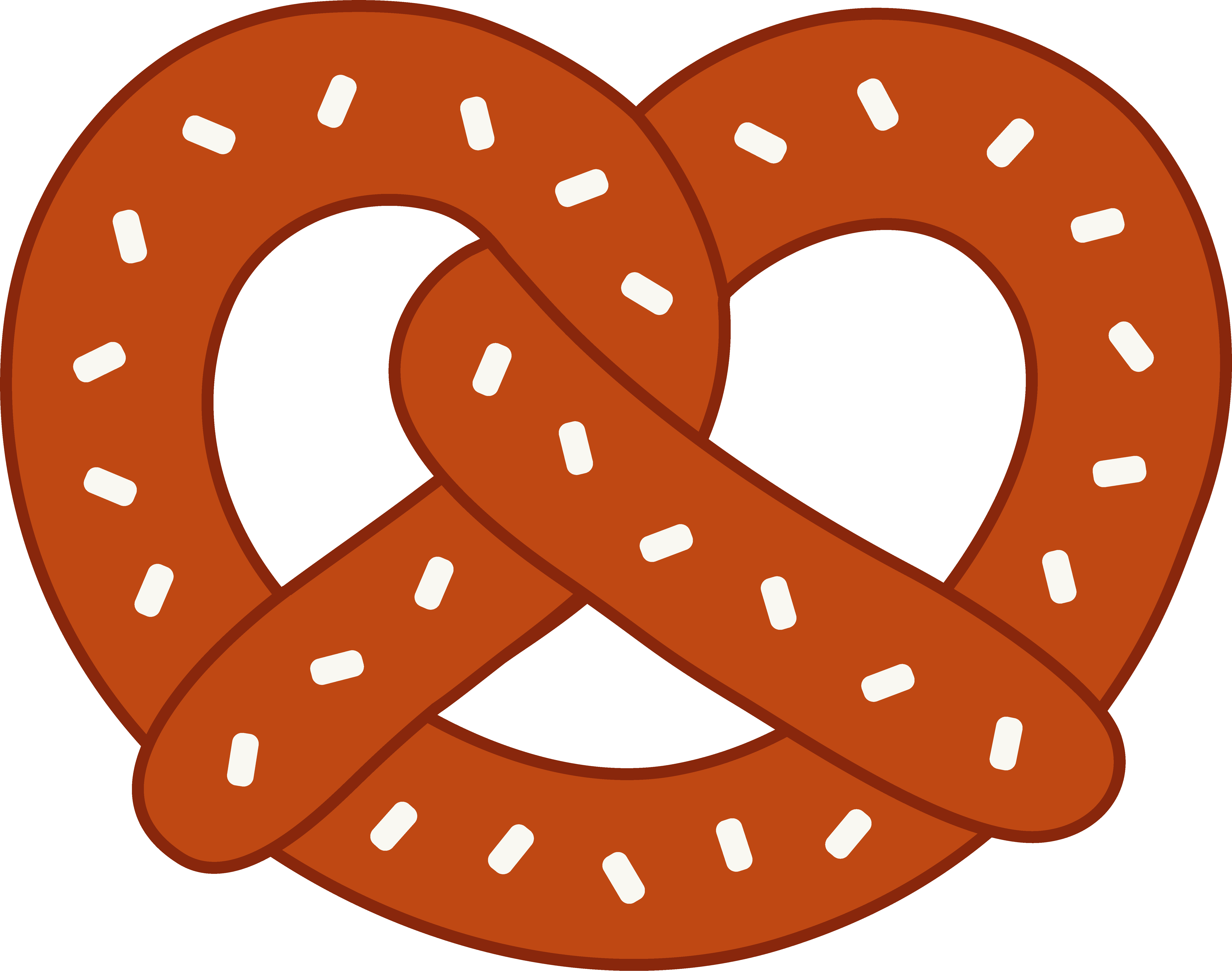 graphic library library Pretzel . German clipart.