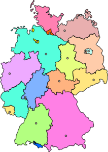 freeuse download Germany Map New Color Clip Art at Clker