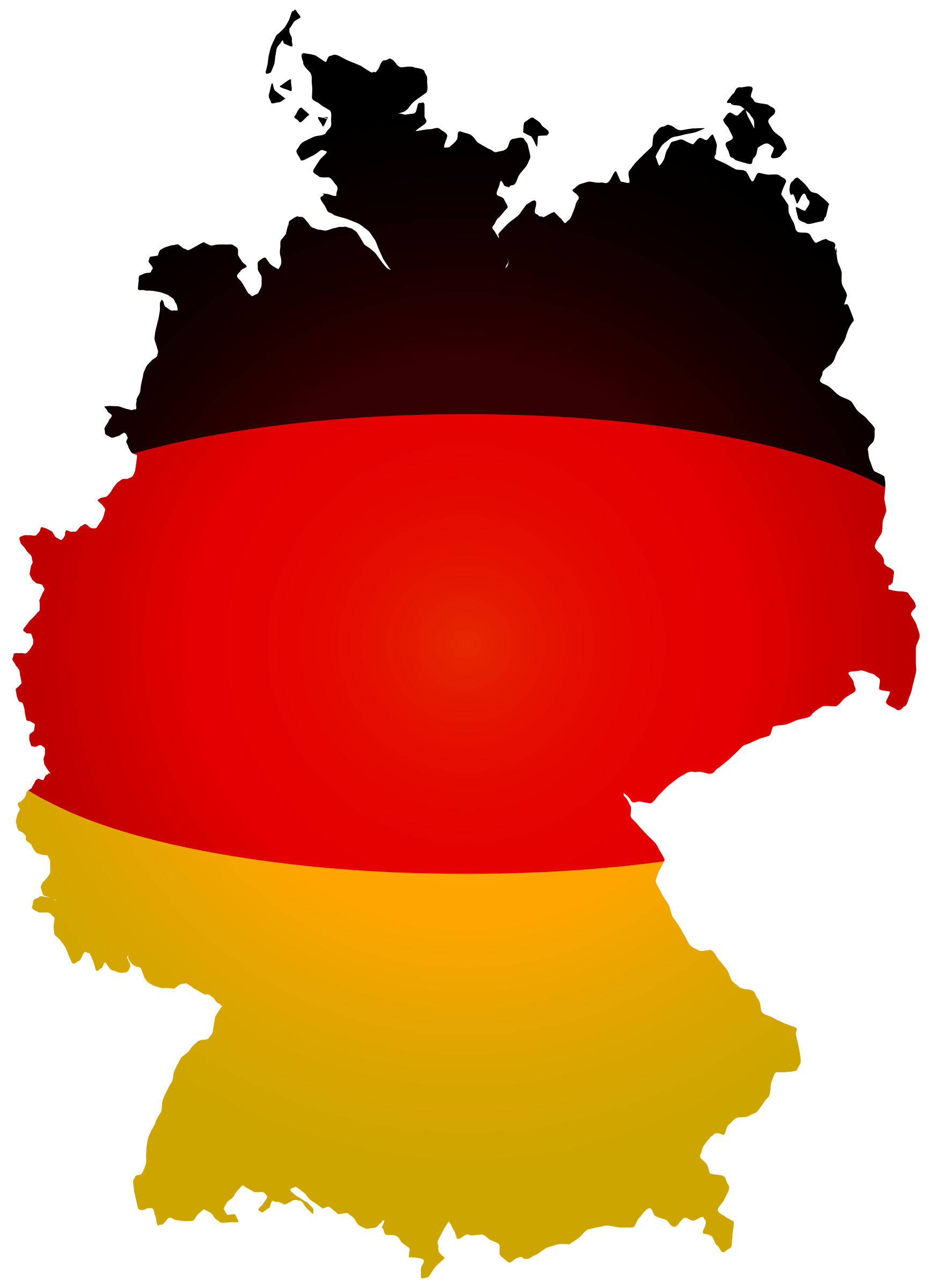 svg Germany clipart. Flag map big image