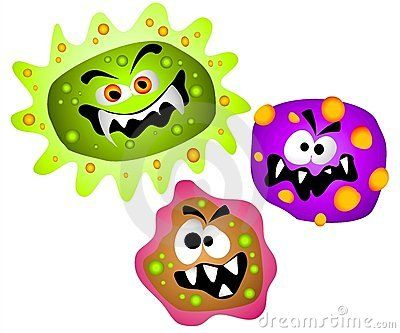 picture freeuse library Germs clipart. Viruses bacteria download from.