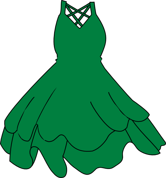 picture library stock Green clip art at. Gown clipart small dress