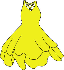 picture black and white library Clip art at clker. Gown clipart yellow dress