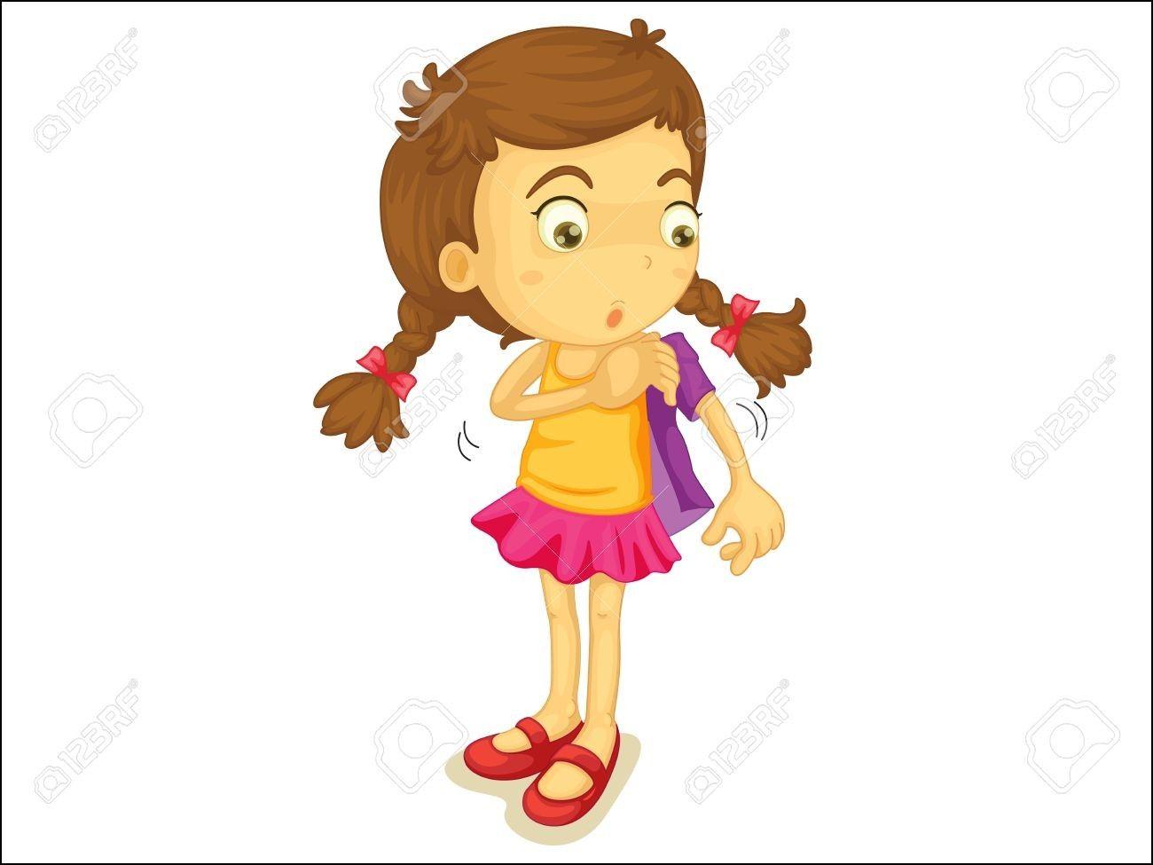 jpg transparent Getting dressed clipart. Girl kids vector clip.