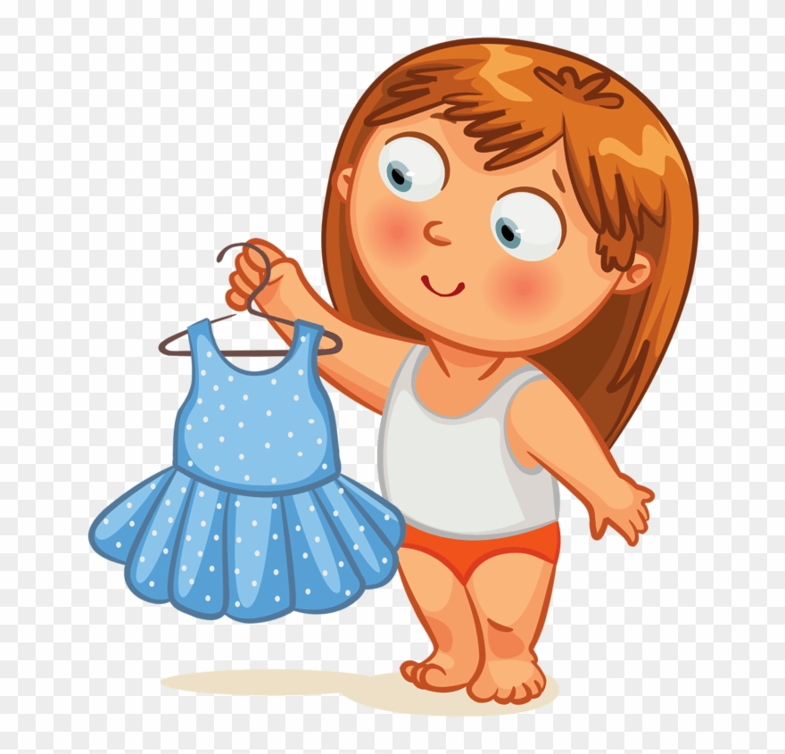 svg free download Girl png download . Getting dressed clipart.