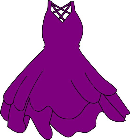 graphic royalty free stock Gown clipart violet dress. Cartoon