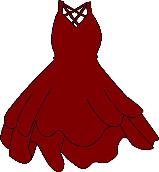 clip art royalty free library red dress hi Dress Cartoon