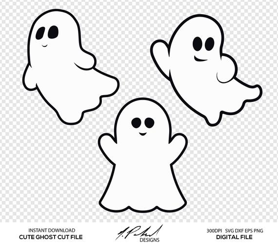 clip art Ghost clipart. Cute digital cut files.