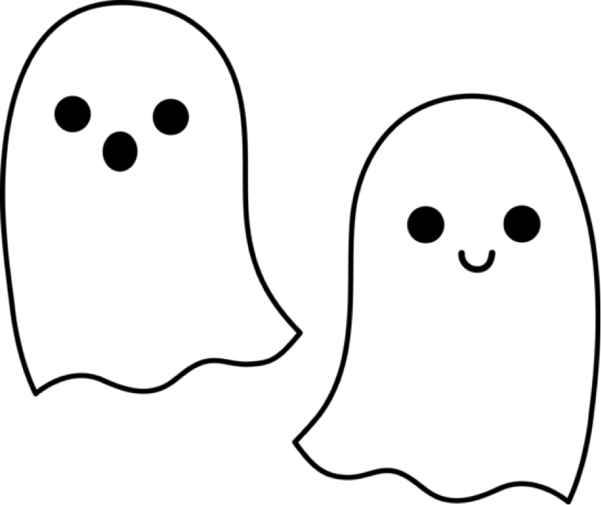 banner library download Ghost clipart. Outline clip art panda