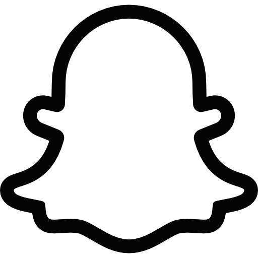 clip royalty free stock Snapchat ghost logo and. Black clip transparent