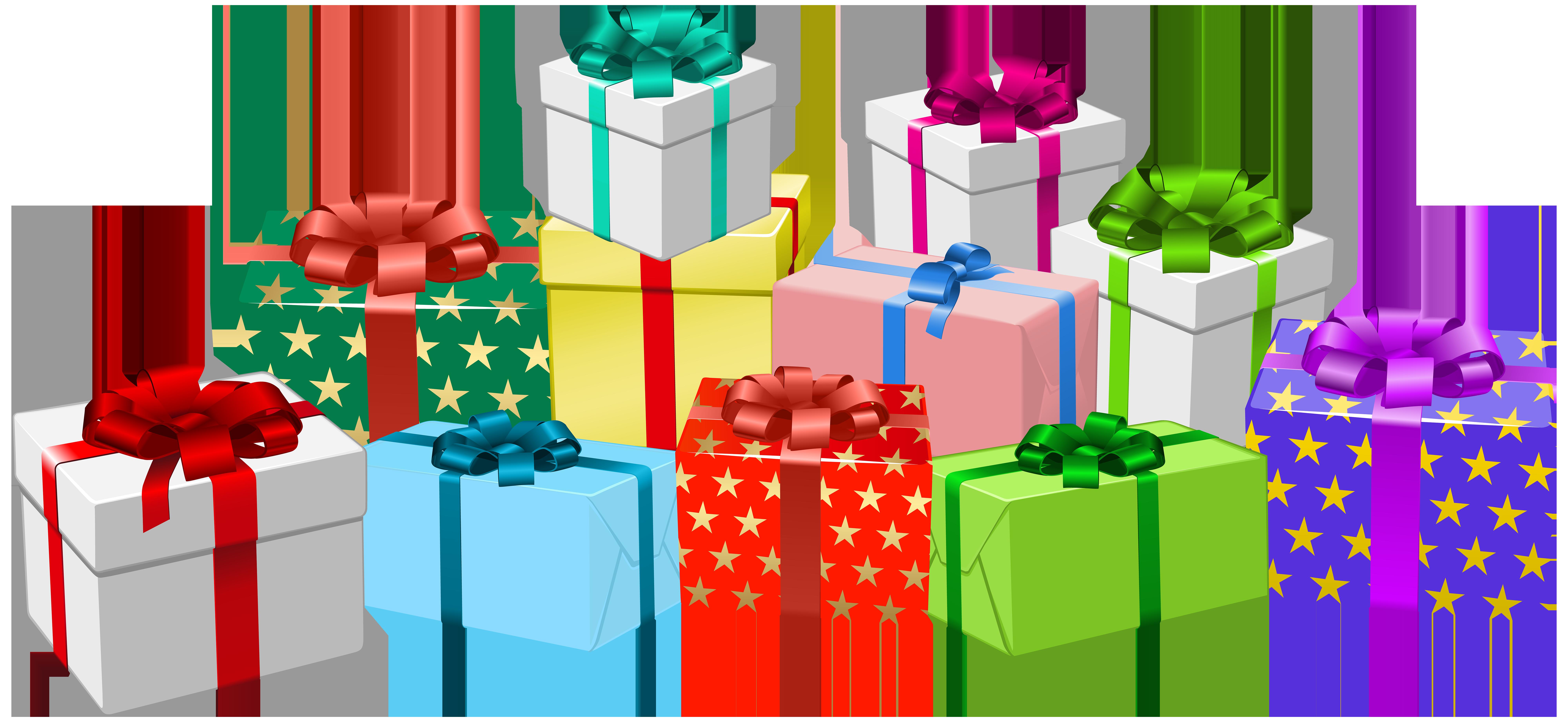 png transparent download Boxes png clip art. Gift clipart