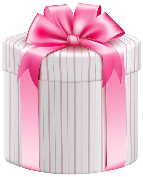 png library download White Striped Gift Box PNG Clipart Image