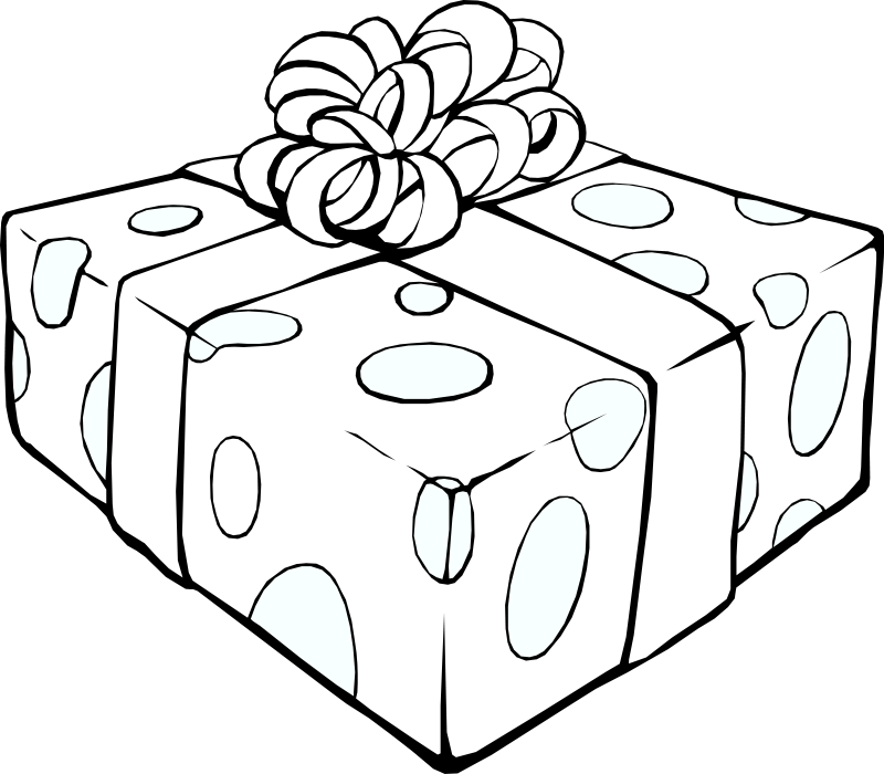 clip transparent library Gift Boxes Drawing at GetDrawings