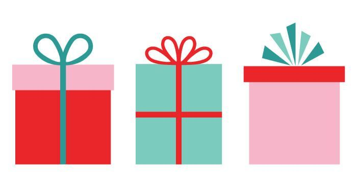 svg transparent library Gifts clipart. Christmas clip art freebie.