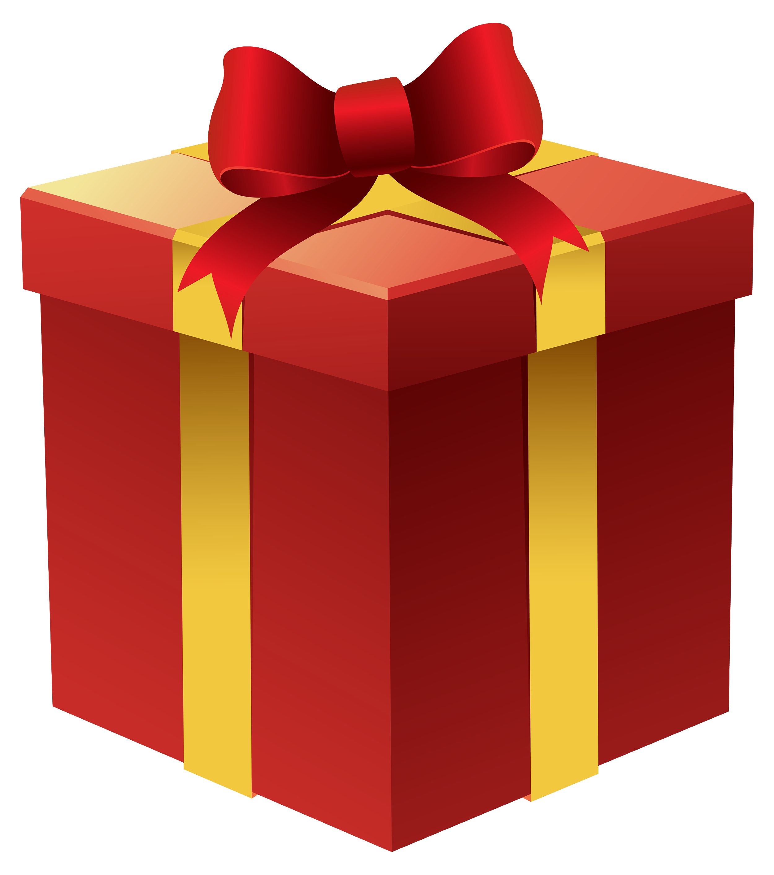 image stock Gifts clipart. Gift box in red.