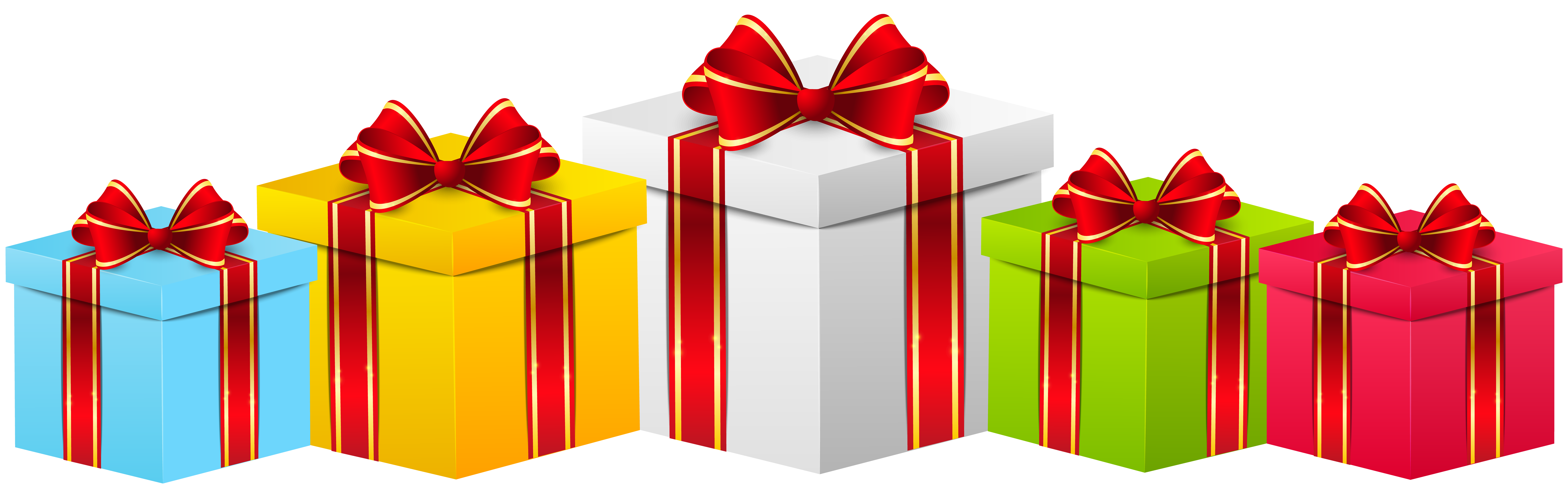 royalty free Gift boxes transparent png. Gifts clipart.