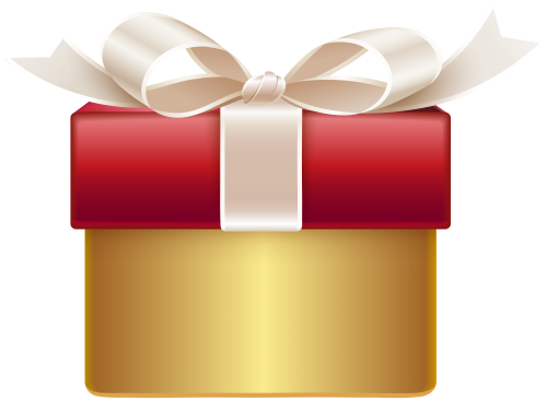clip art free library Gifts clipart gold. Red gift png clip