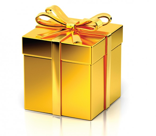 graphic Gift x free clip. Gifts clipart gold