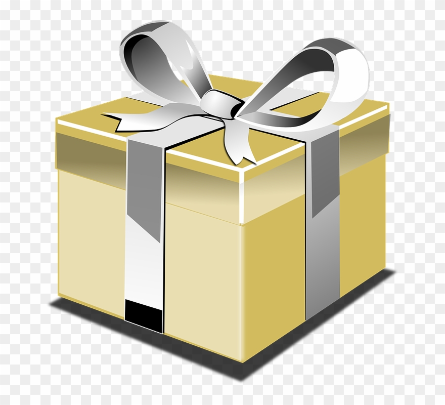 clip art free library Black and gift box. Gifts clipart gold