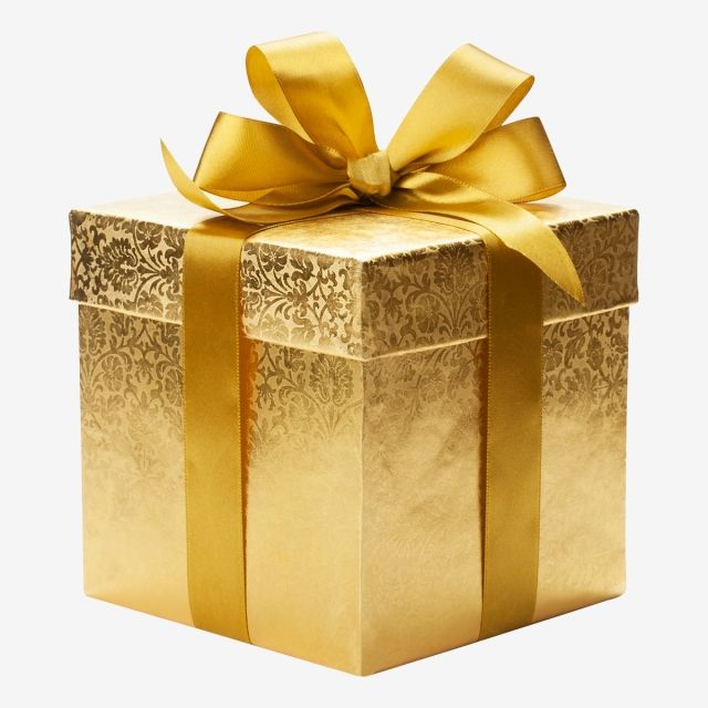 clip royalty free Gifts clipart gold. Millions of png images