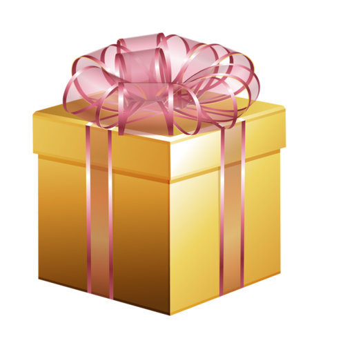 svg free Gifts clipart gold. Christmas gift with pink