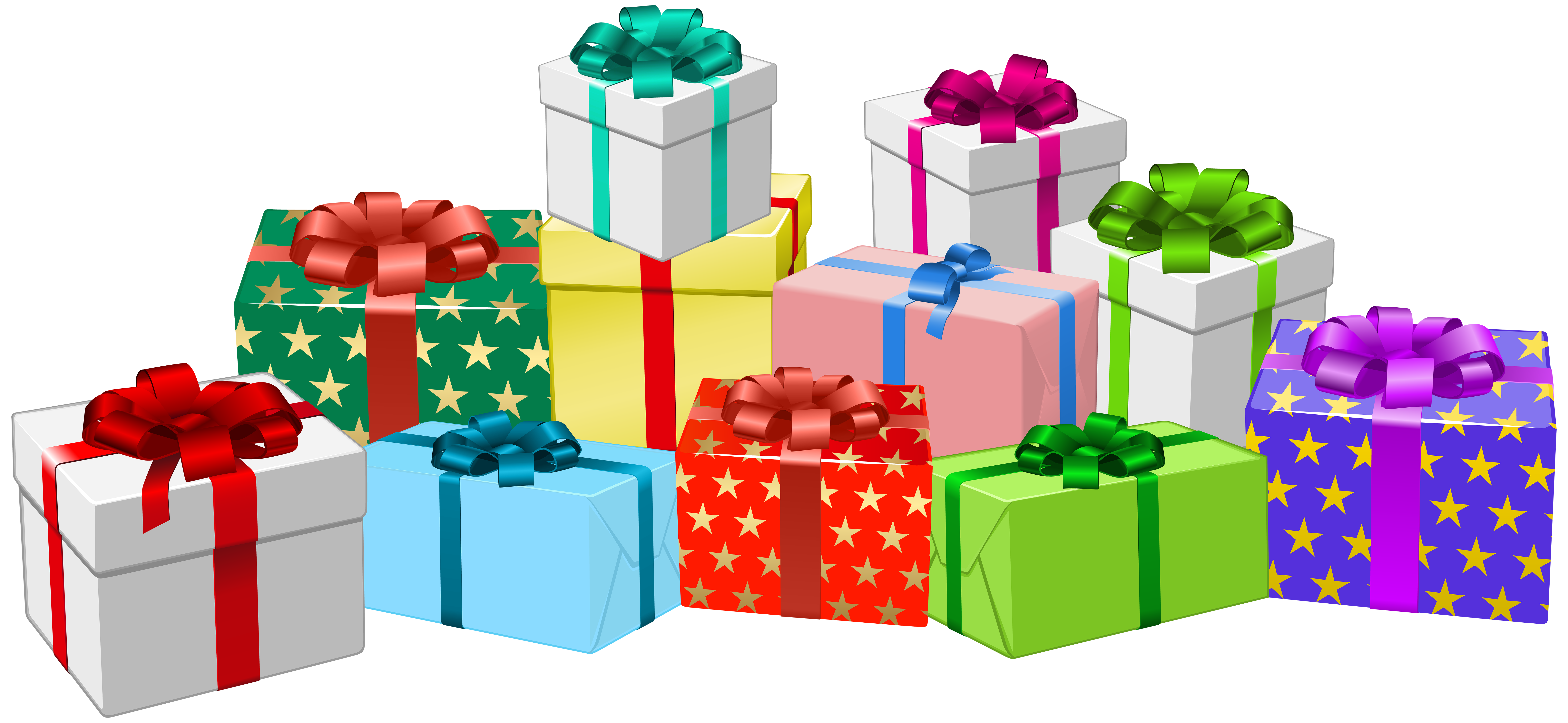 vector free download Gifts clipart. Gift boxes png clip.