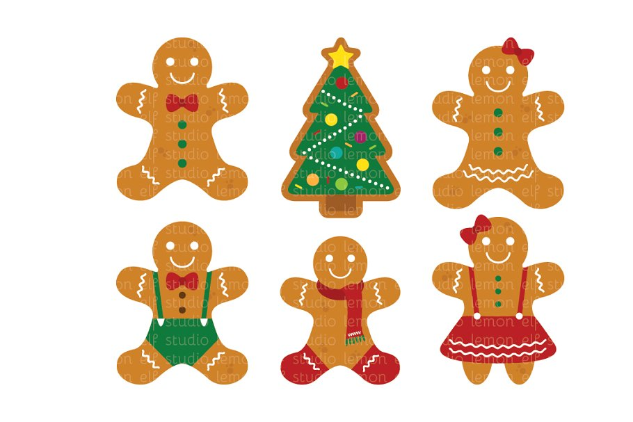 clip black and white stock Les cl illustrations creative. Gingerbread clipart.