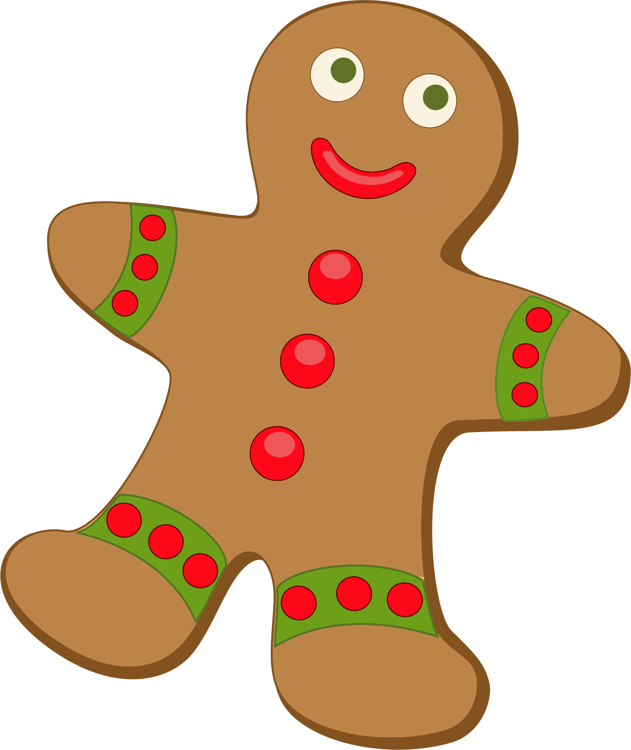 clipart black and white Christmas . Gingerbread clipart.