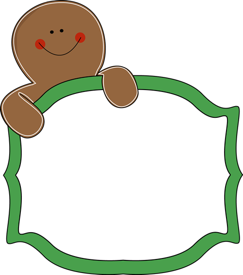 svg freeuse download Free Gingerbread Clip Art Borders