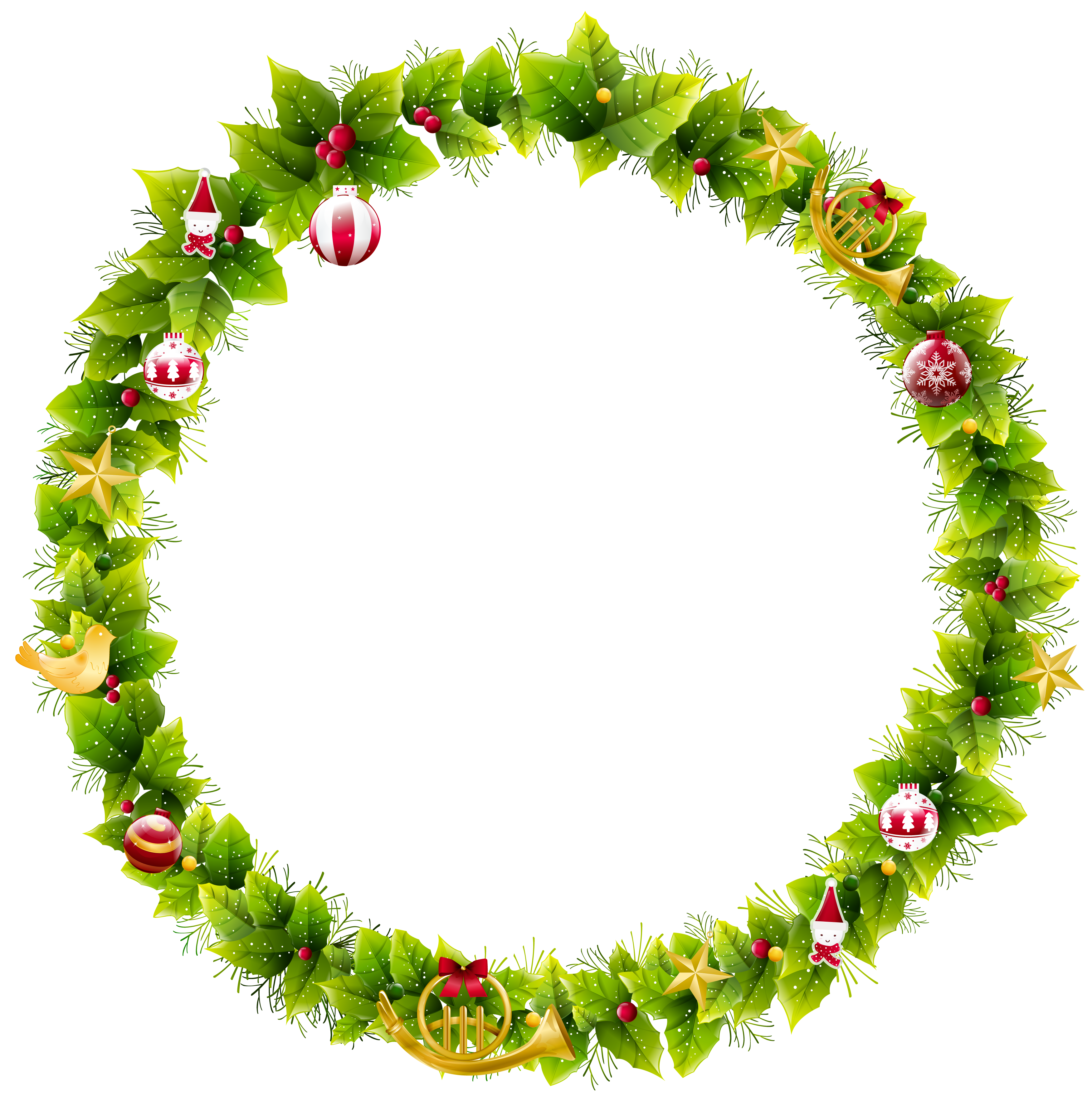 clipart free library Large christmas photo gallery. Wreath frame clipart