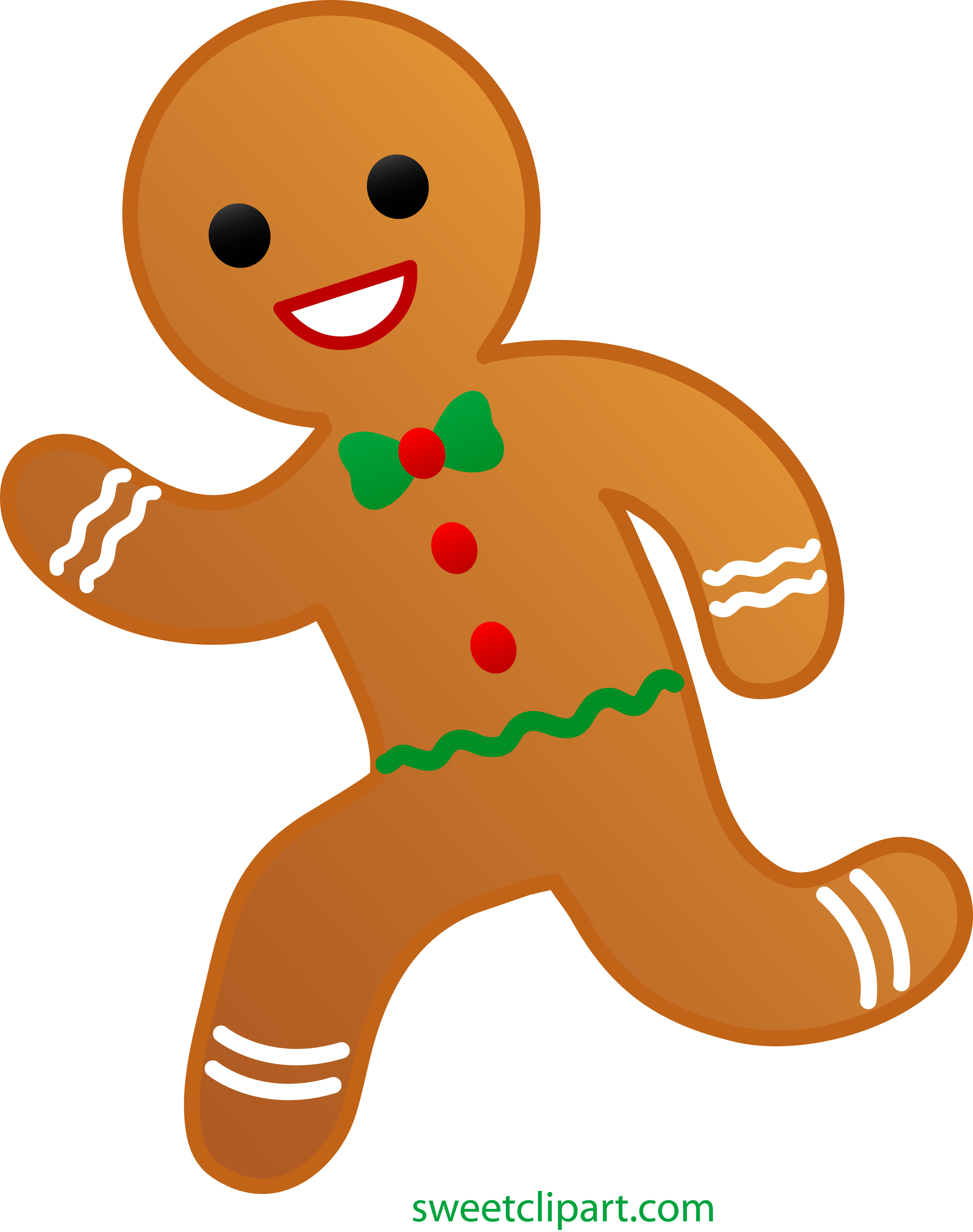 picture library Man running clip art. Gingerbread clipart.