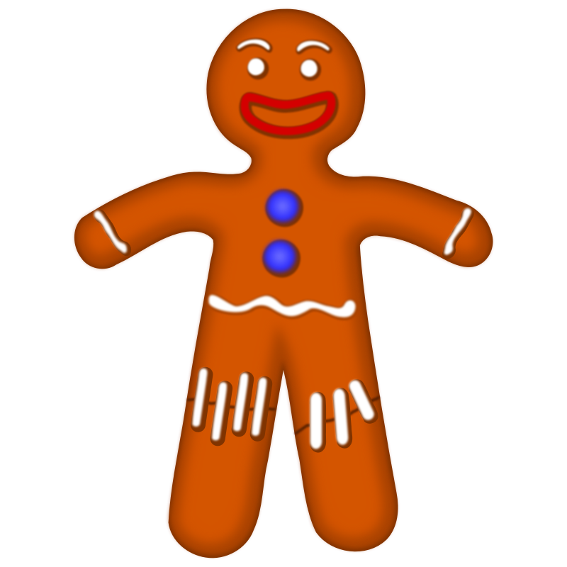 clipart free stock Gingerbread Man Clip Art For Christmas