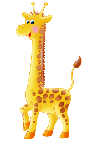 picture royalty free library Giraffe clipart. Simple outline cute applique