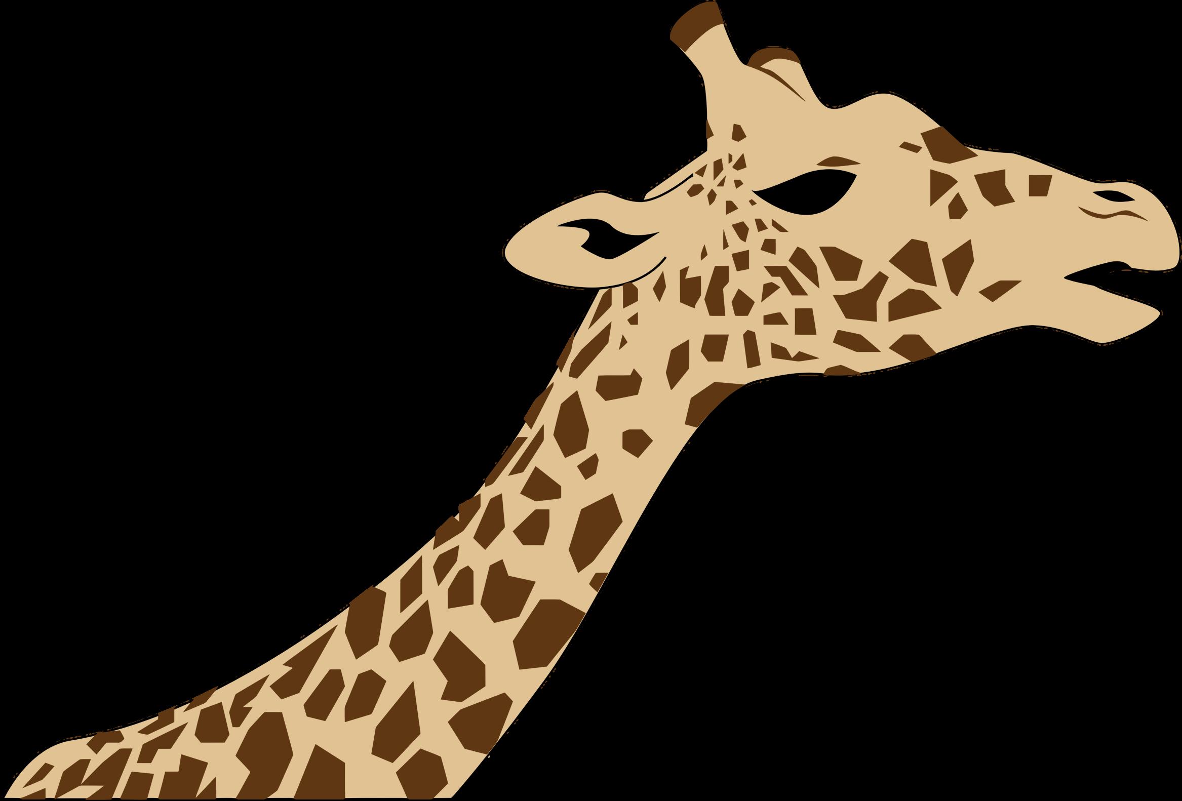 banner transparent stock Neck clipart giraffe. Head big image png.