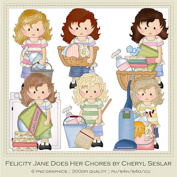graphic free stock Free cliparts download clip. Girl chores clipart.