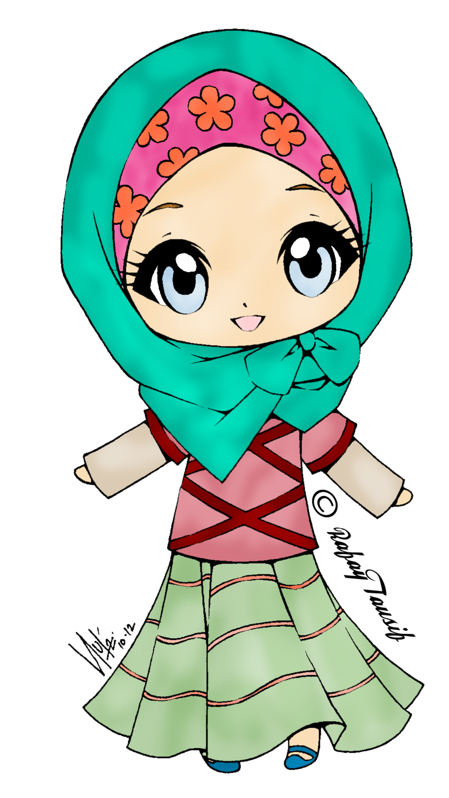 svg black and white download muslim girl clipart