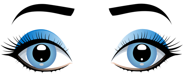 jpg royalty free download Cartoon Girl Eyes Clipart